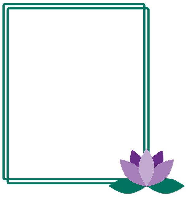 Frame, Lotus, Flower, Picture Frame, Green, Lilac