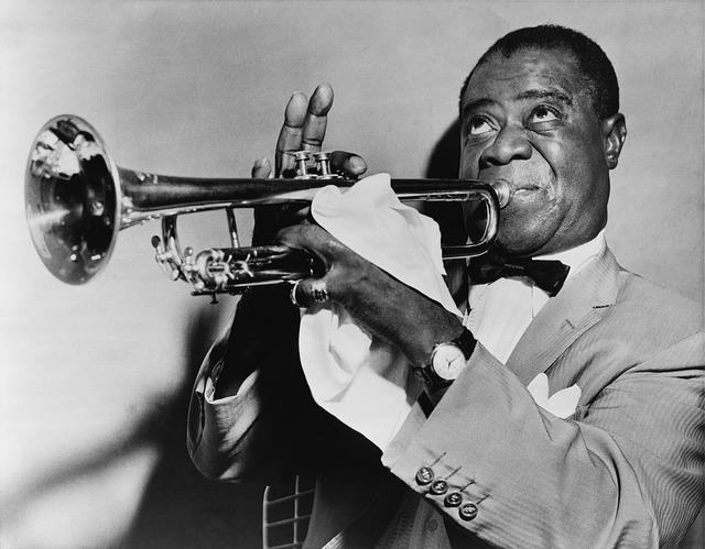 Jazz, Musician, Trumpet, Trumpeter, Louis Arm Strong