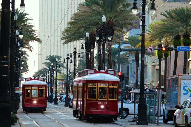 New Orleans, Tram, America, Usa, Louisiana