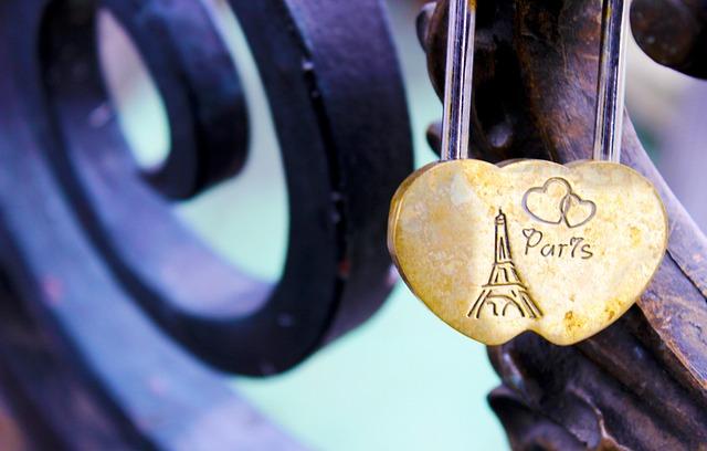 Paris, Locker, Love, Bridge, France, Romance, Valentine