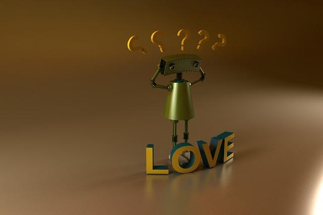 Robot, 3d, Love Confusing