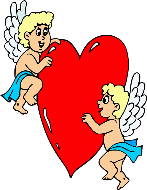 Angels, Heart, Cupid, Love, Celestial, Valentine's Day