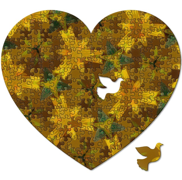 Heart, Dove, Abstract, Love, Decoration