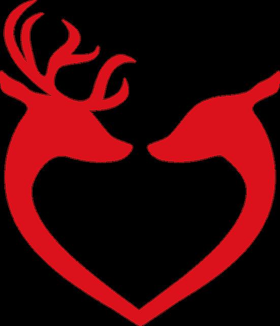 Reindeer, Love, Christmas, Decoration, Deer, Decorative