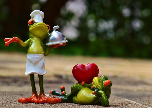 Frog, Cooking, Love, Valentine's Day, Eat, Kitchen