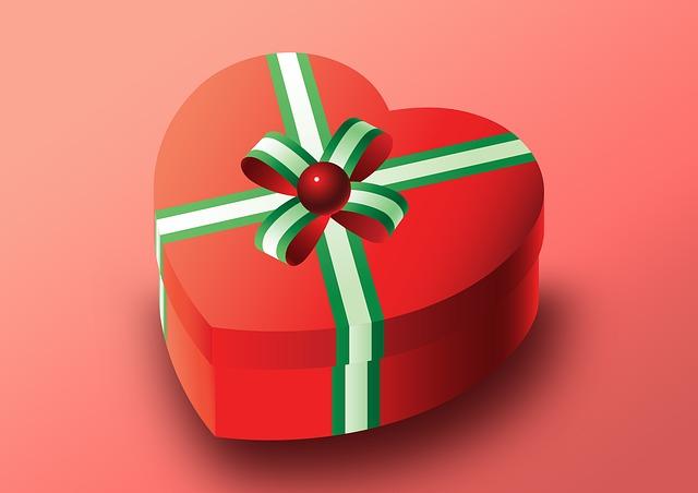 Packaging, Gift, Valentine, Heart, Heart Shaped, Love