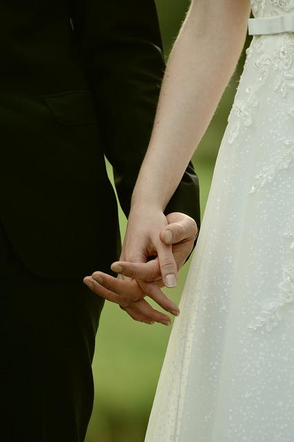 Bride And Groom, Hands, Together, Love, Wedding