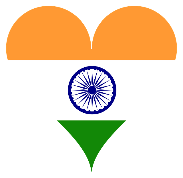 Heart, Love, Coat Of Arms, Flag, India, South Asia