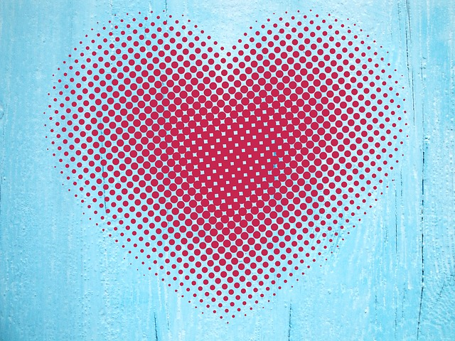 Heart, Points, Grid, Love, Background, Abstract