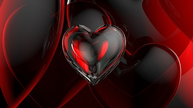 Romance, Love, Romantic, Heart, Glass, 3d, Red, Symbol