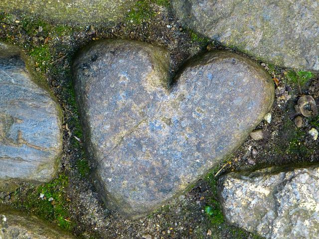 Heart, St Michael's Mount, Stone, Love, Stone Heart