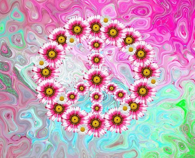 Peace, Harmony, Freedom, Hope, Colorful, Love Peace