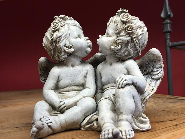 Angels, Sculpture, Statue, Cherub, Love, Religion