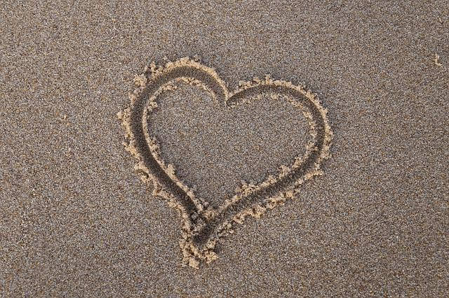 Heart, Sand, Beach, Summer, Sea, Love, Vacation, Travel