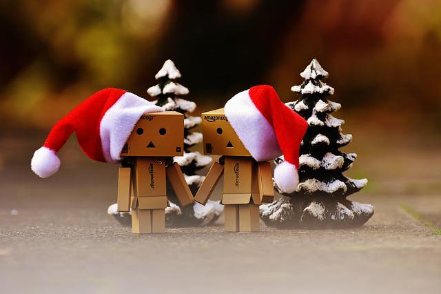 Danbo, Christmas, Fig, Together, Hand In Hand, Love