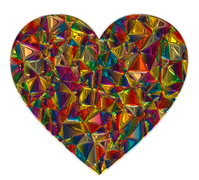 Valentine, Deco, Heart, Metallizer, Art, Glass, Love