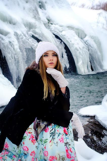 Snow, Winter, Coldly, Leann, Outdoors, Lovely, Woman