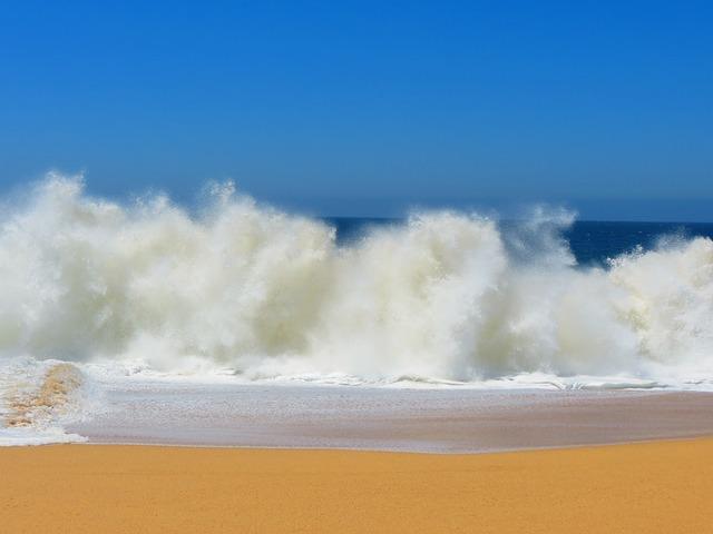 Crashing Waves, Lover's Beach, Mexico, Cabo, Beach