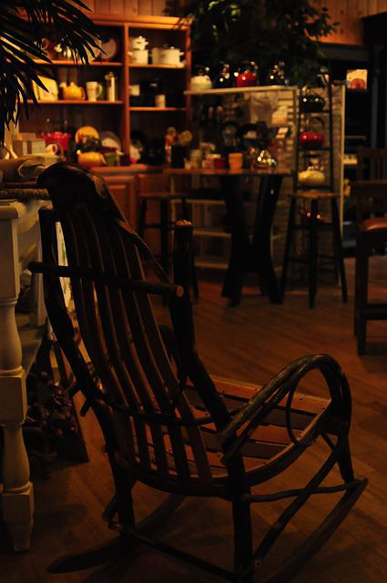 Country House, Old Fashion, Rocking Chair, Low Light