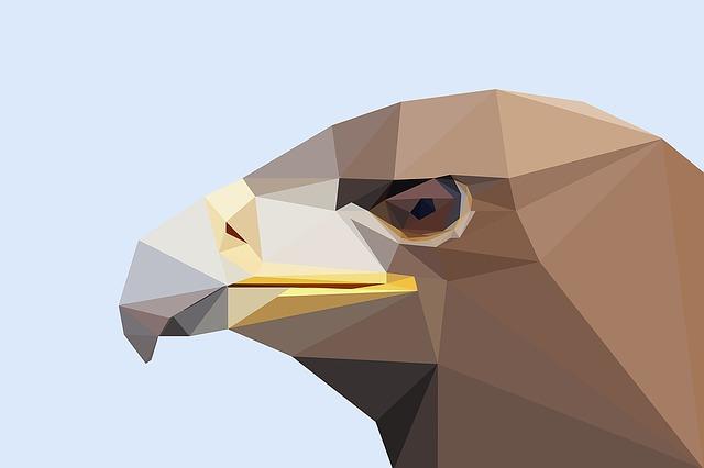Adler, Bird, Low Poly, Bird Of Prey, Raptor