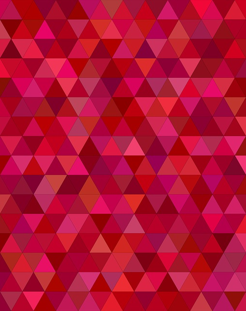 Maroon, Dark, Red, Triangle, Mosaic, Tile, Low-poly