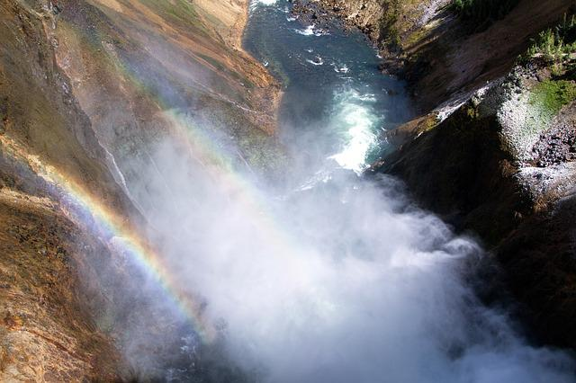 Yellowstone National Park, Lower Falls, Waterfall