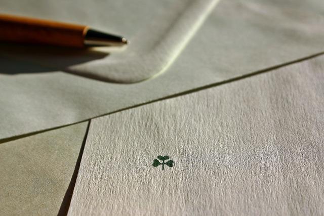 Letters, Write, Envelope, Luck, Four Leaf Clover