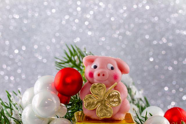 New Year's Eve, Lucky Charm, New Year's Day, Lucky Pig