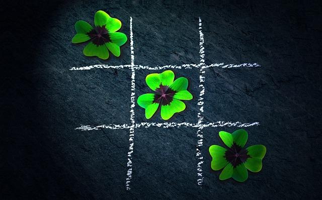 Klee, Four Leaf Clover, Lucky Clover, Tic Tac Toe