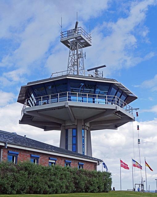 Control Tower, Harbour Entrance, Lübeck-travemünde