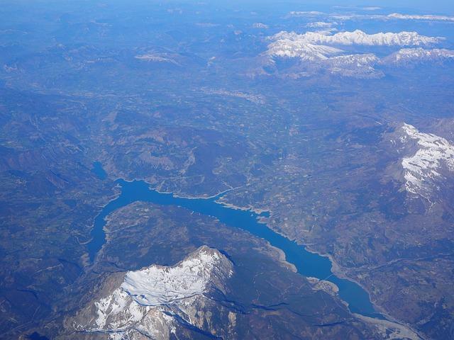 Aerial View, Luftbildaufnahme, Lac De Serre-ponçon
