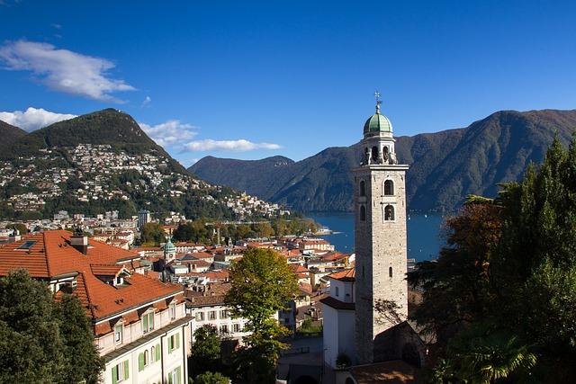 Lugano, Monte Bre, Church Of San Lorenzo, Ticino