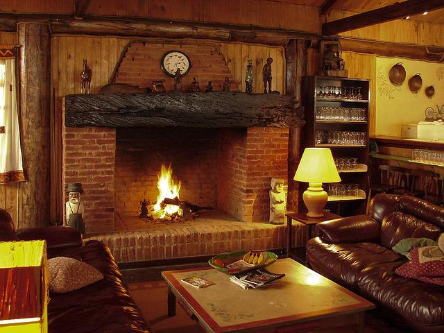 Fireplace, Luggage, Fire, Firewood