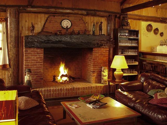 Fireplace, Luggage, Fire, Firewood