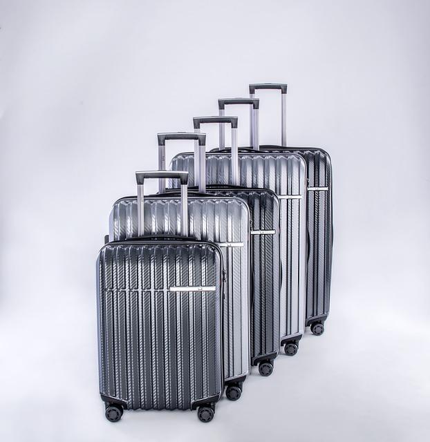 Luggage, Travel Case, Metallic Lugguage