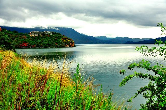 Blue Sky, Lugu Lake, Views