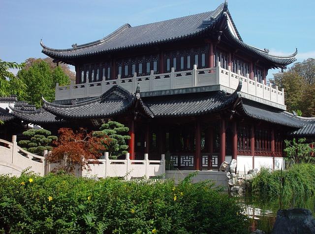 Luisenpark, Mannheim, Tea House, Park, Botanical