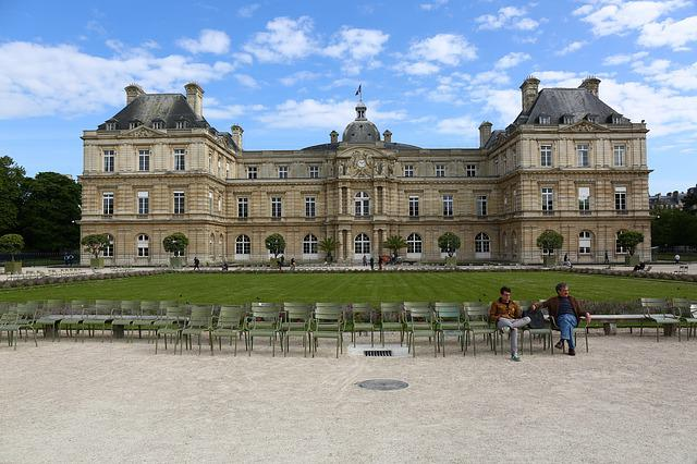 Paris, Luxembourg, Garden, Palace, Senate, France