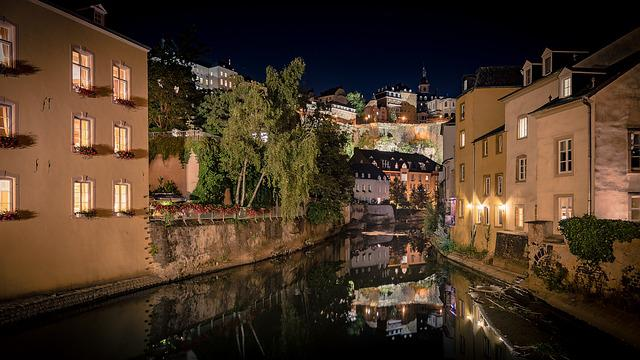 River, City, Water, Historically, Luxembourg