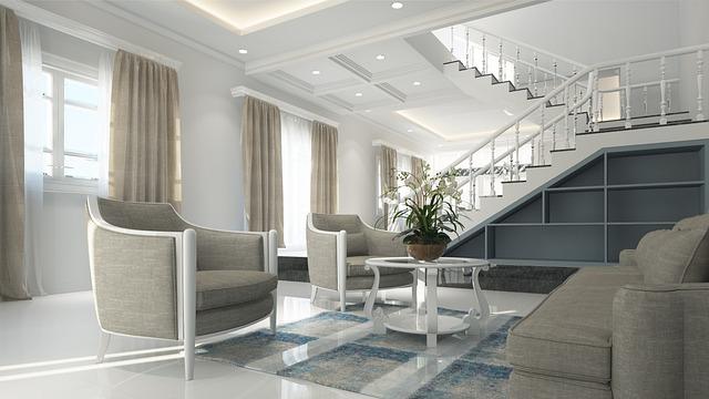 Interior, Neoclassical, Design, Luxury, 3d, White