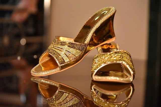 Gold, Luxury, Fashion, Shining, Decoration, Sandal