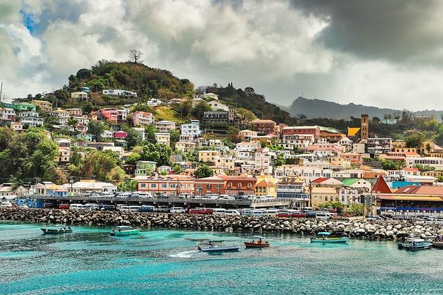 Grenada, St, Georges, Caribbean, Tropical, Luxury, Town