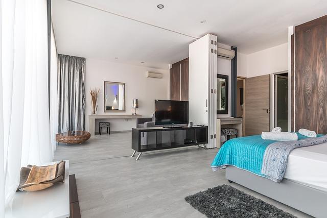 Villa, Interior, Hotel, Bedroom, Vacation, Luxury