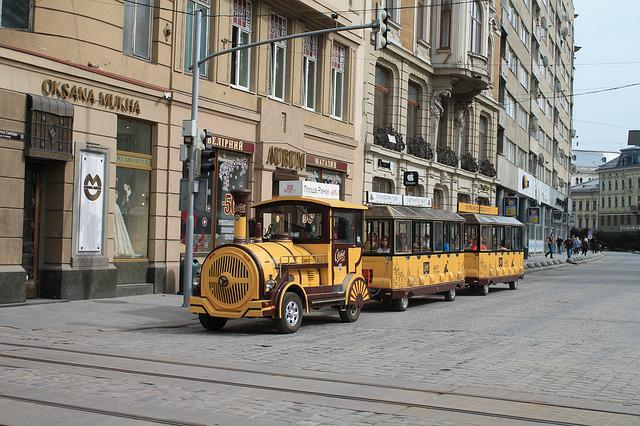 Excursion, Tram, Train, Ukraine, Lviv, Market Square