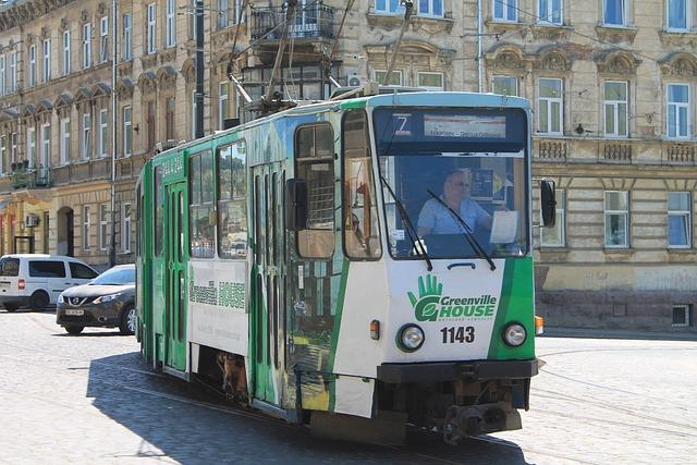 Tram, Lychakivska Street, Ukraine, Lviv, Old Town