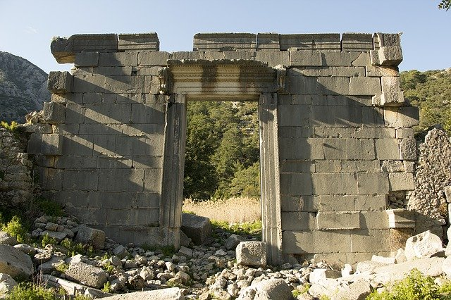 Lycian Way, Gate, Lycian, Turkey, Lycia, Likia, Dirt
