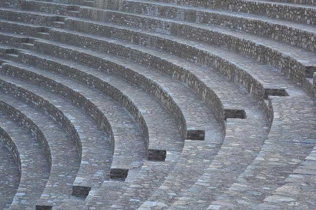 Amphitheatre, Lyon, Building, Architecture, Symmetry