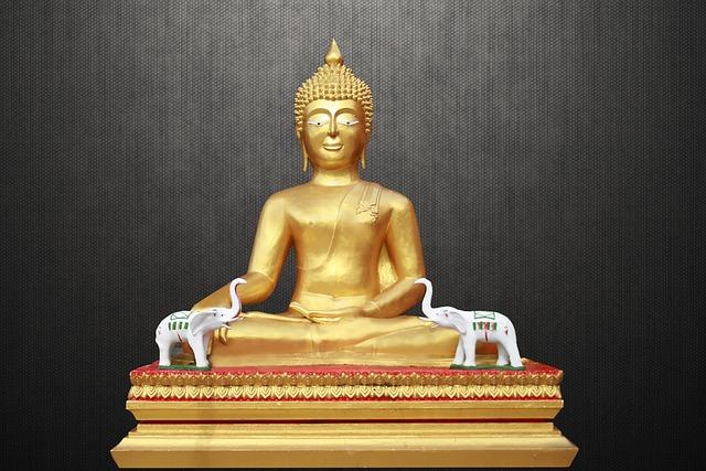 Meditating Buddha, Golden Buddha, Zen, M, Meditation
