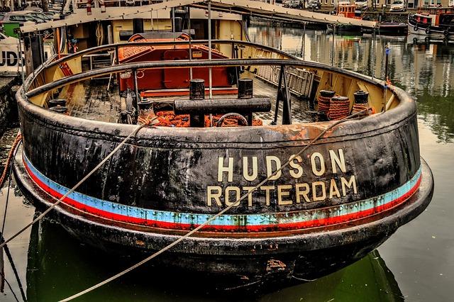 Hudson, Rotterdam, Maassluis, Boat, Tug, Port