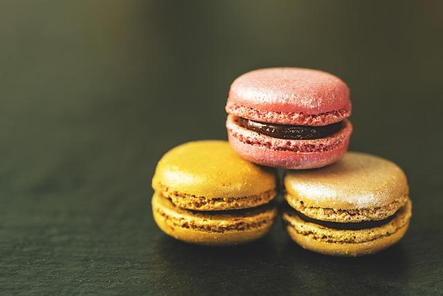 Macaron, Macarons, Food, Sweet, French, Pink, Colorful